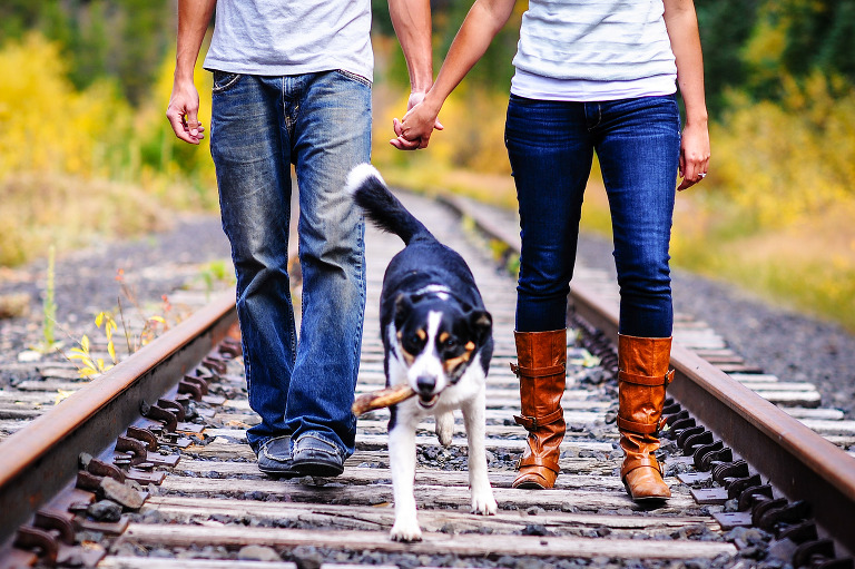 Engagement photos from Vail, Colorado by destination wedding photographer Kira Vos (Horvath) with TrueNorthPhotography.org